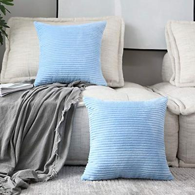 2 pack supersoft square textured throw pillow