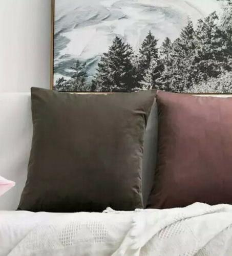 Soft Solid Pillow Brown