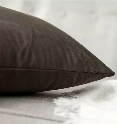 "MIULEE Pack Soft Square Pillow Cushion 12"" Brown"