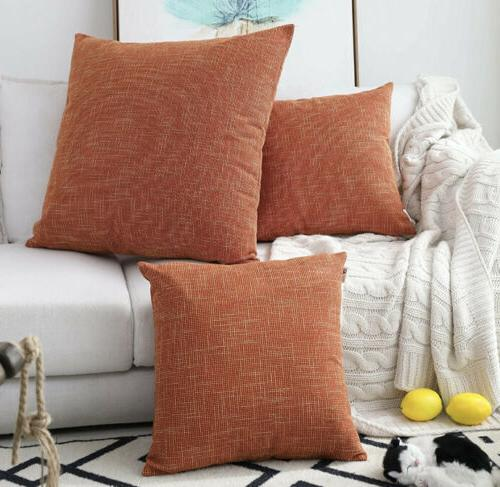 2 packs decorative hand made faux linen