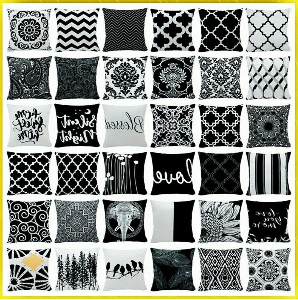 20x20 black and white accent throw pillow