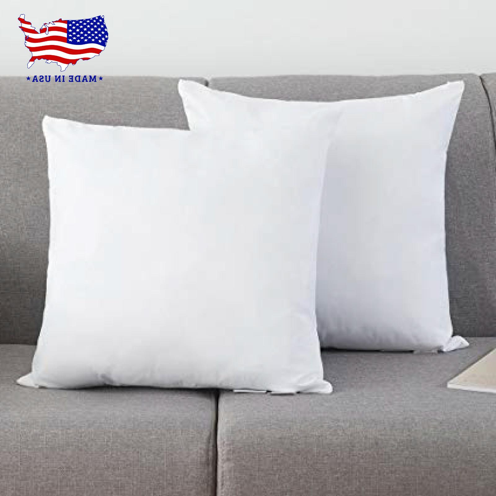 Throw Pillow Inserts Hypoallergenic Made in 1