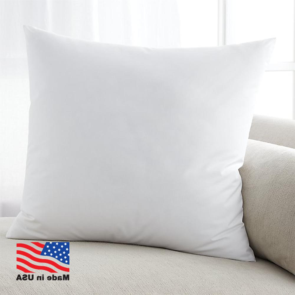 Euro Stuffing Throw Pillow Form USA Shell Pair of