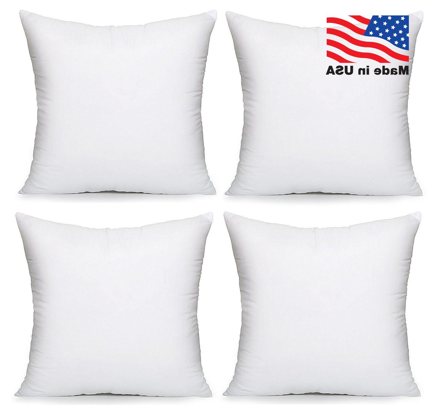 Throw Pillow Insert Square Euro Pillow Stuffing Made in USA
