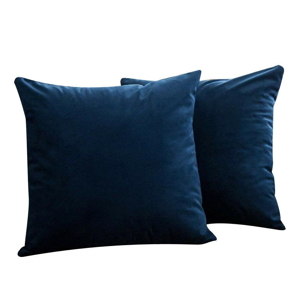 2PC Soft Plush Throw Pillow Set Sofa