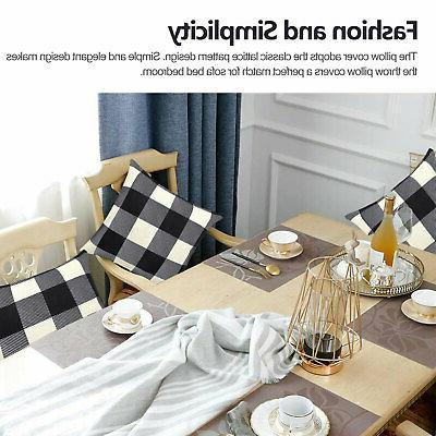 Black And Check Plaid Pillow Case US
