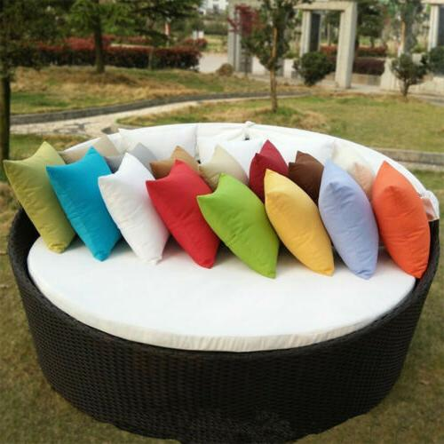 2X Outdoor Waterproof Throw Pillow Cover For Furniture