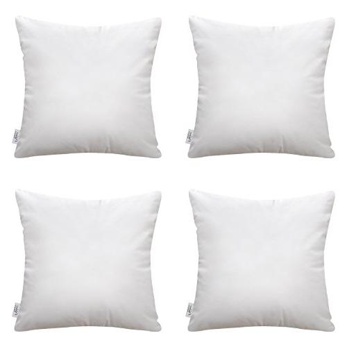 4 packs square polyester throw