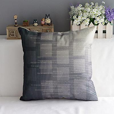 WOMHOPE Blue and Cotton Linen Throw