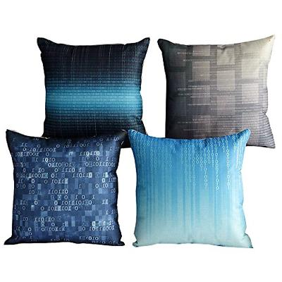 4 pcs 17 blue and grey style