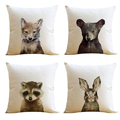 4 pcs just covers animal watercolor patern