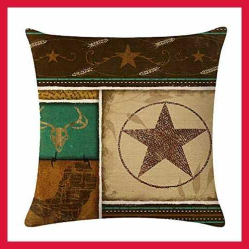 4Pack Cowboy Throw Pillow Case Cowboys
