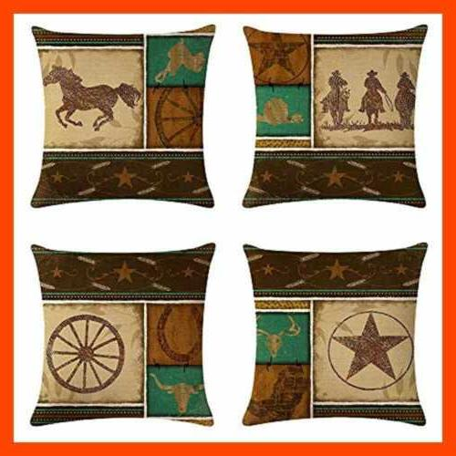 4Pack Cowboy Style Pillow Cowboys