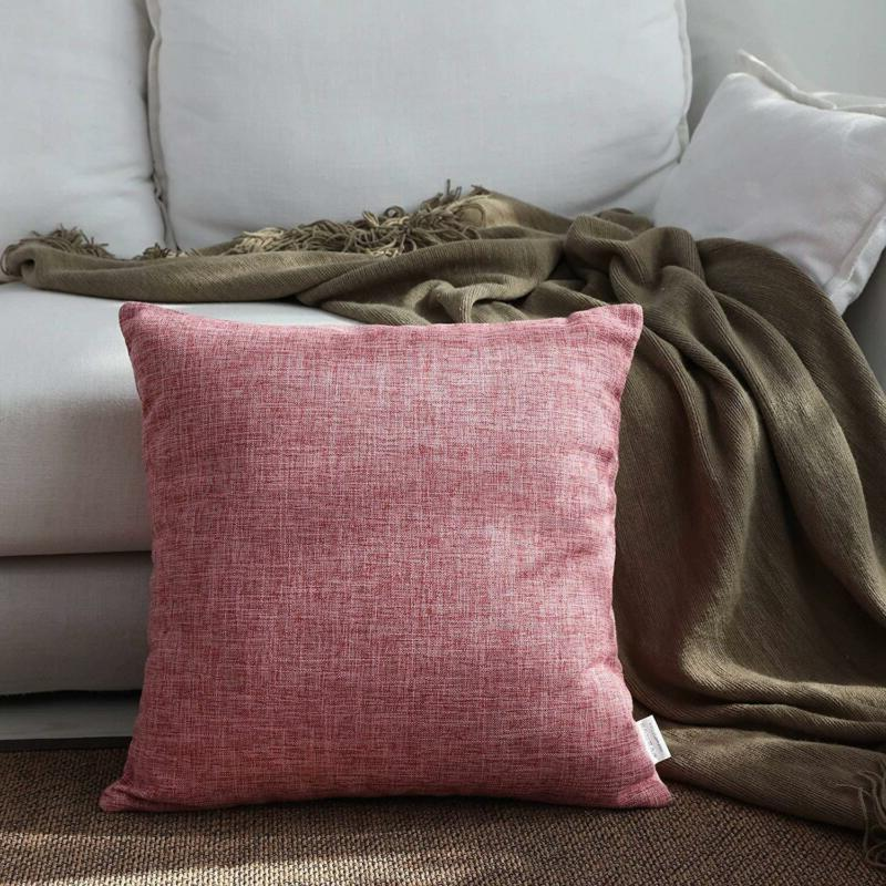 Kevin Textile Decor Lined Linen Decorative Euro Throw Pillow
