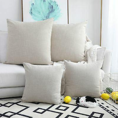 Kevin Textile Throw Pillow Cases Textural Faux Linen Decor S