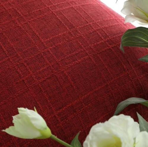 """LOT of 4 - Kevin Textile Red Pillow Case Cover, 18x18"""" NEW"""
