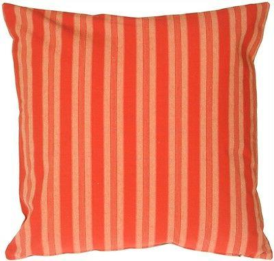 Pillow Decor - Tuscan Stripes in Red Throw Pillow  - SKU: MD