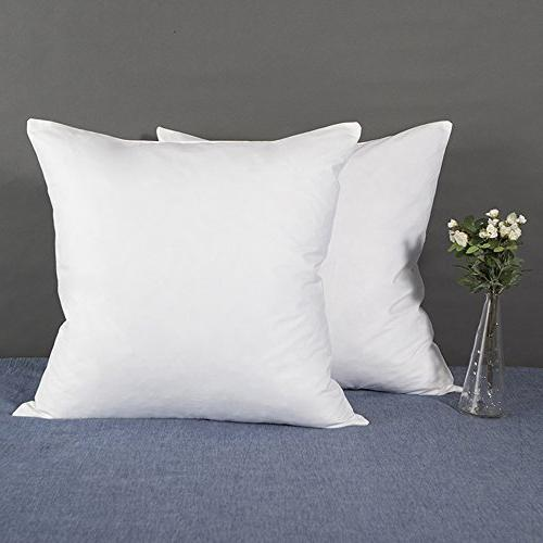 YSTHER Down and Feather Pillow Insert, Pillows 18'' x