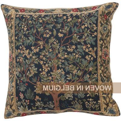 Tree of Life Tapestry Throw Pillow Cover 18x18 William Morri