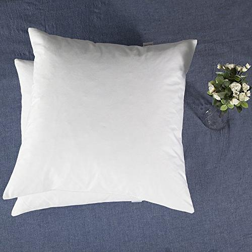 YSTHER Set of Down Feather Throw Pillows Inserts, 18'' x