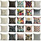 Abstract Geometric Cotton Linen Cushion Cover Throw Pillow C