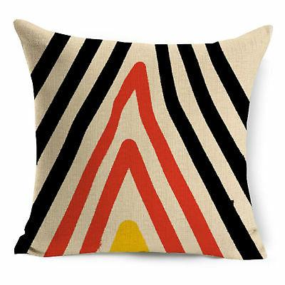 Abstract Geometric Cotton Throw Pillow Cushion Cover