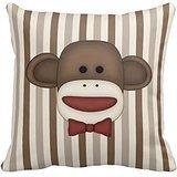 Adorable Sock Monkey Home Decor Items Throw Pillow Cover Pol