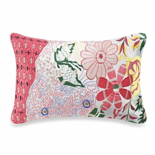 anthology tia embroidered beaded oblong