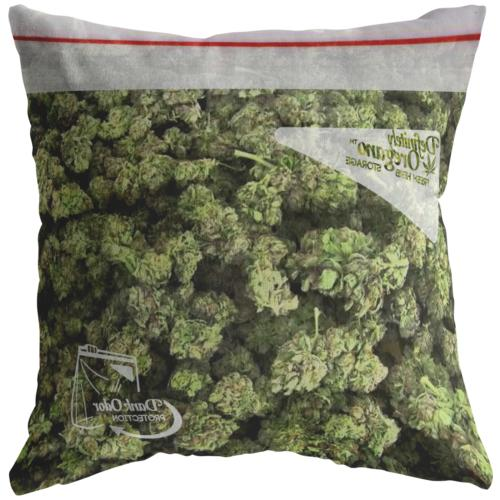 bag of weed throw pillow pillowcase funny