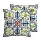 Belle Maison Beckett Cotton Throw Pillow Set of 2