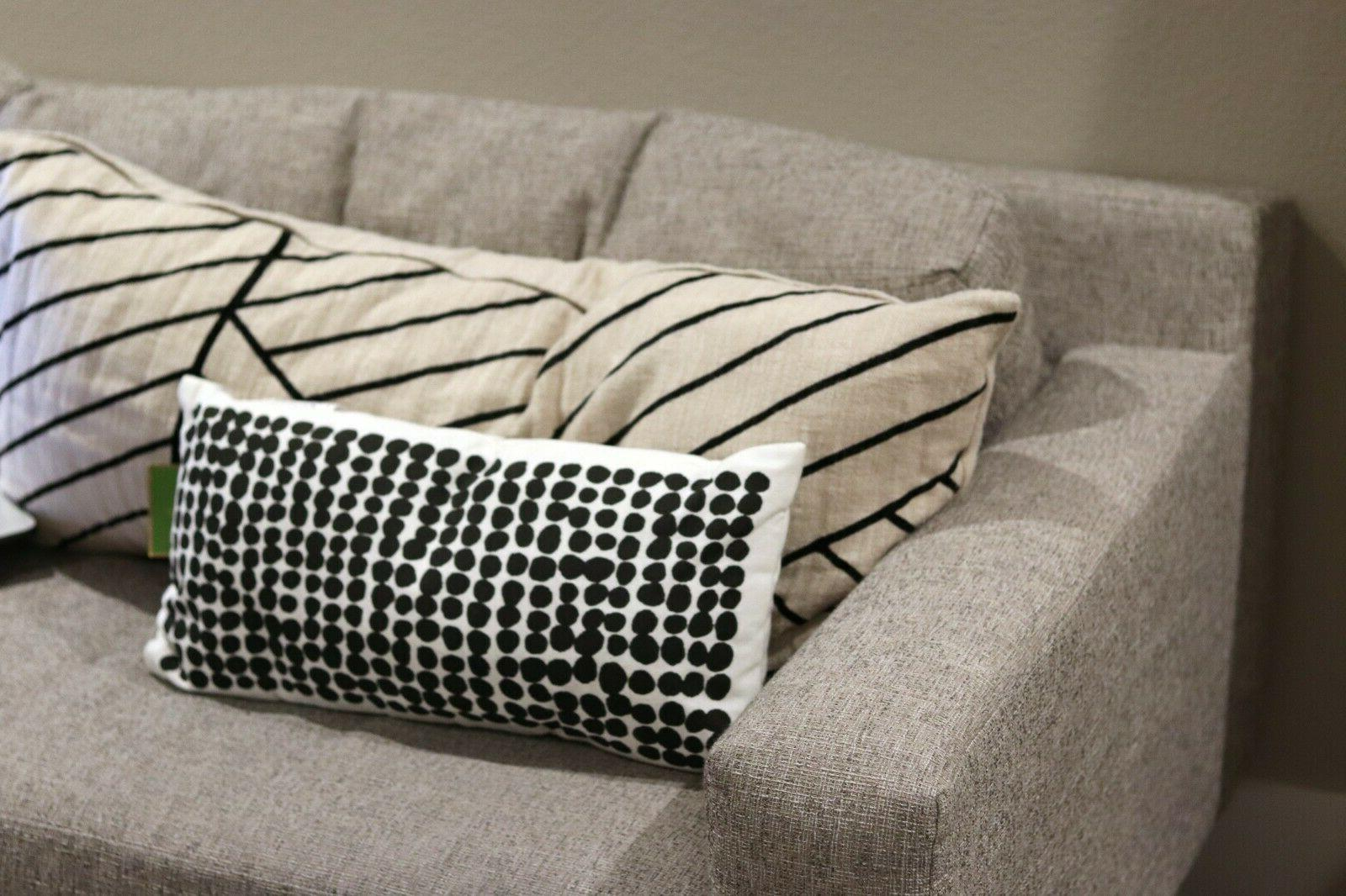 kate spade black and white dotted throw