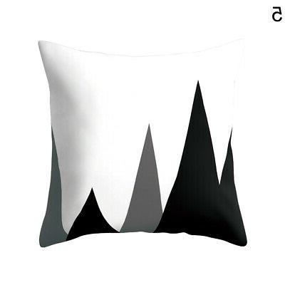 Black & White Throw Pillow Square Cushion Cover Home Decor Well