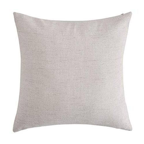Deconovo Throw Cushion Cover Faux for 18 Set of No Insert