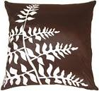 Pillow Decor - Brown with White Bold Fern Throw Pillow  - SK