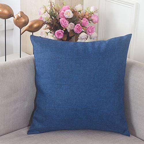 breathable faux linen square throw