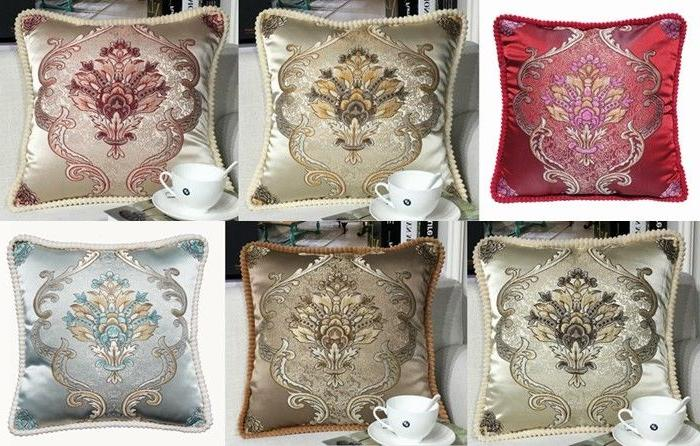 Brocade Throw COVER Luxury Cushion 18x18""