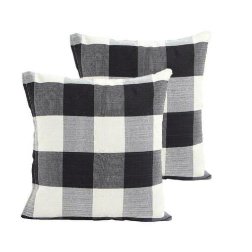 buffalo check throw pillow cover 18 x18