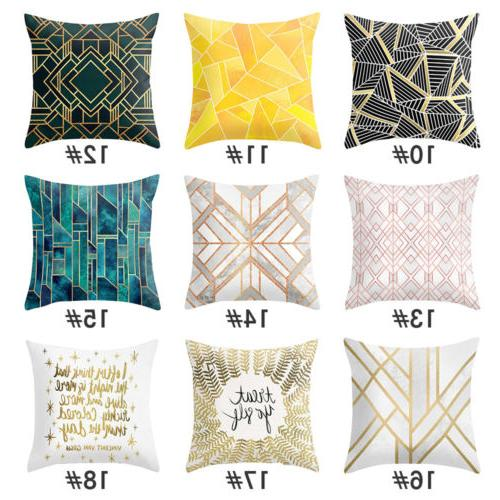 Geometric Printed Polyester Covers Throw Pillow