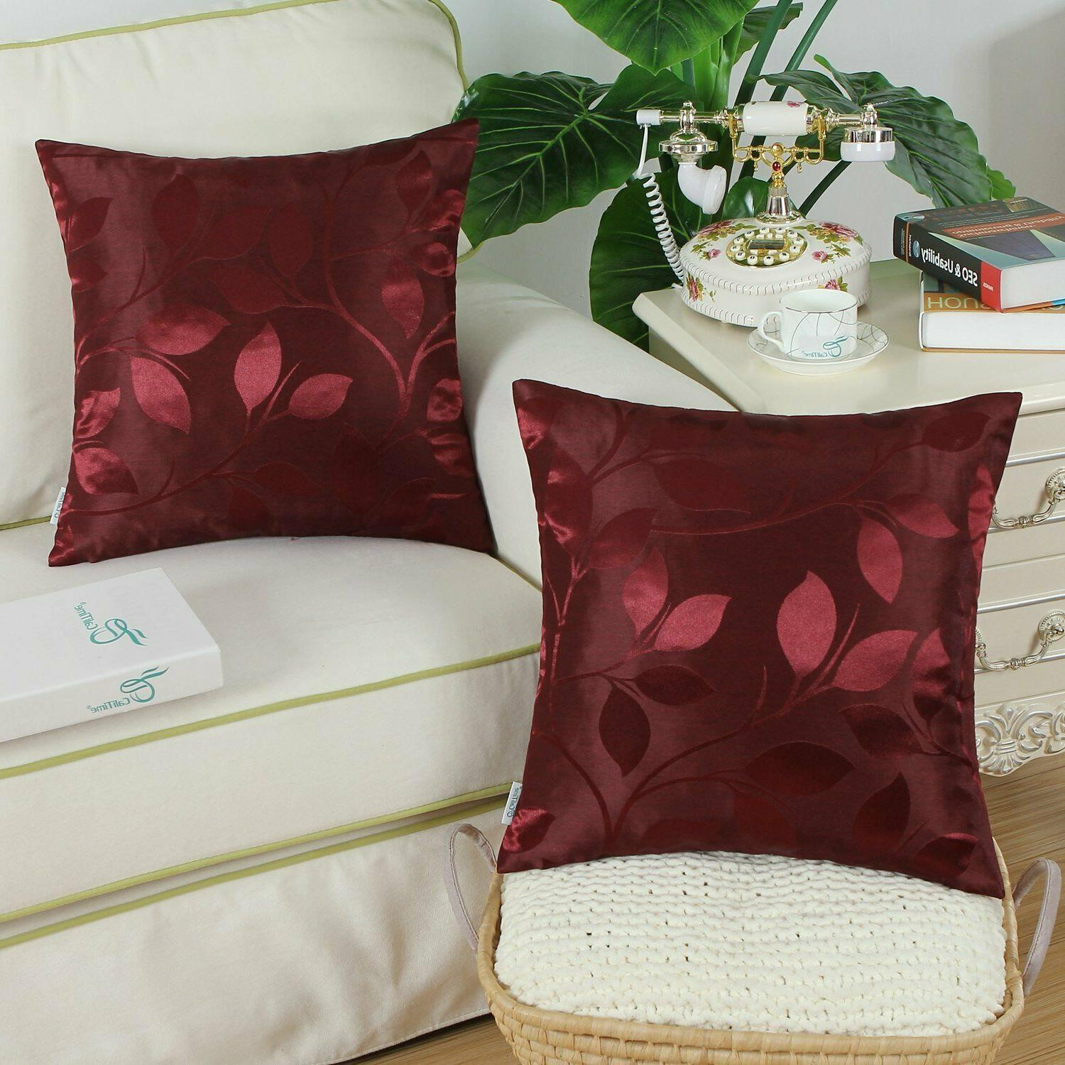 CaliTime Pack of Throw Pillow Home 18