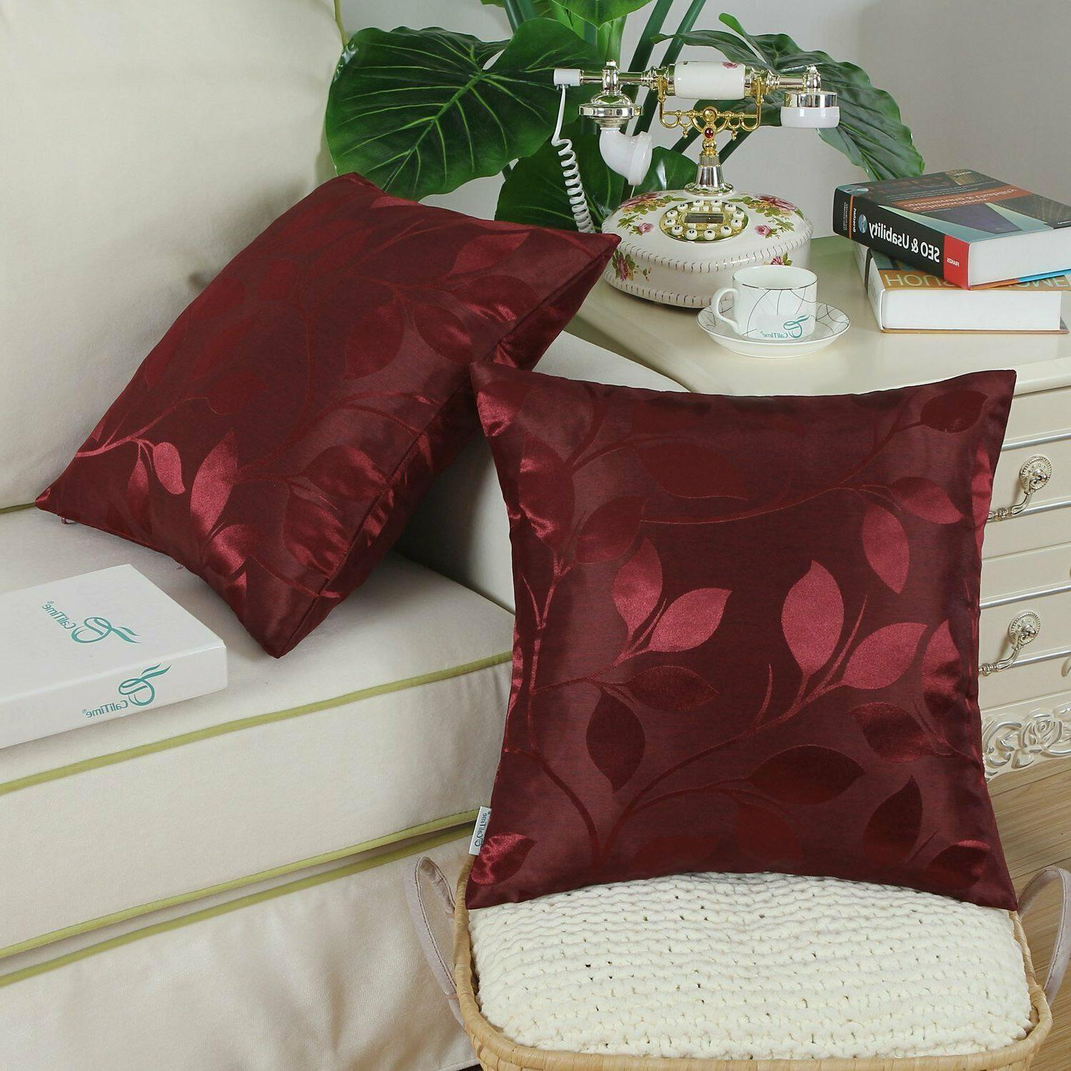 CaliTime Pack Throw Pillow Home 18 18