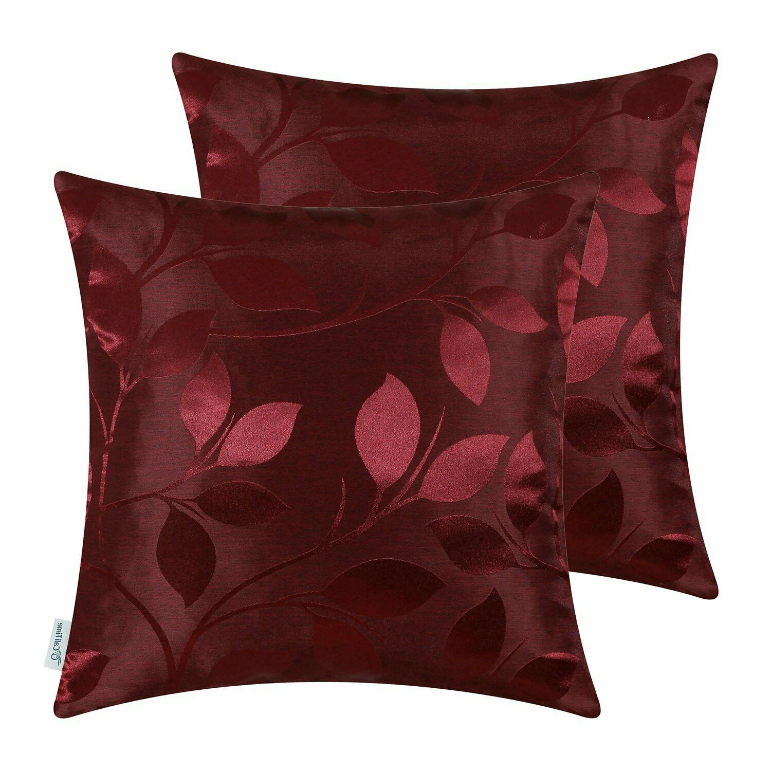 calitime pack of 2 throw pillow covers