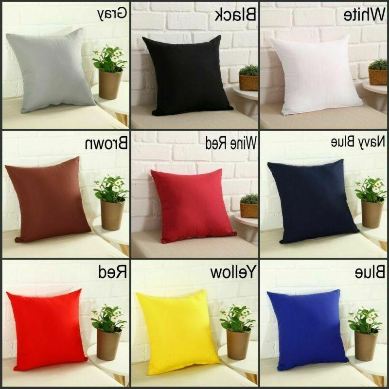 Candy Color Pillow Car Cushion Décor Case