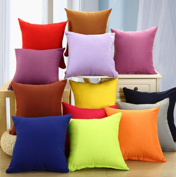 candy color cotton throw pillow case cover