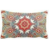 Chic Retro Red Turquoise Teal Kaleidoscope Pattern Home Thro