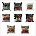 Christmas Cotton Linen Sofa Cover Car Home Waist Cushion Cov