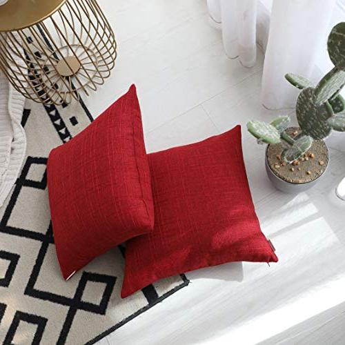 Kevin Farmhouse Cotton Linen Case for 2, Pepper Red