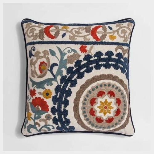 Colorful throw pillow - multi medallion Embroidered - Thresh