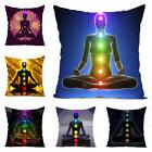 cool yoga chakra cushion cover throw pillow