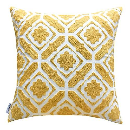 cotton embroidered cushion cover floral