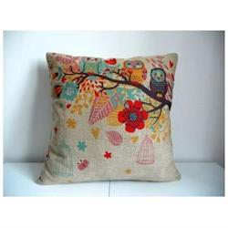 Cotton Linen Square Decorative Throw Pillow Case Cushion Cov